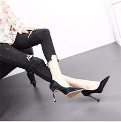 Women's high heels, gold stilettos, pointed, versatile fashion, work, party, quality woman shoes style one 34