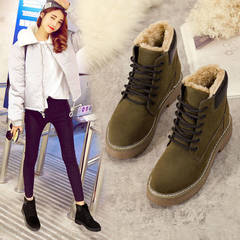 Women shoes boots winte plus velvet high quality soles fashion casual sneakers, wild, rainy season Style one 35