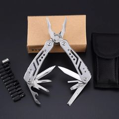 MultifunctionStainlessSteelMulti-toolPocket Knife Pliers Folding Pliers Mini Portable Folding Pliers Stainless steel primary color 15.6*4*1.6(cm)