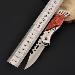 Outdoor knives, outdoor survival, high-quality high-hardness blades, fruit knives, self-defense brown hilt full length 16cm
