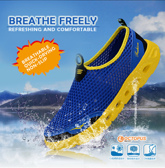 3D surface Men Hard-Wearing Sneakers Mesh Casual outdoor Shoes Non-slip  Breathable Antiskid Shoes blue 46
