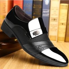 2019 British business formal Bedding dress suit formal shoes men loafers men slip on men dress shoes black 39 pu