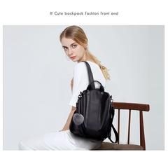 New fashion lady bag anti-theft women backpack 2019 hight quality vintage  female large capacity black one size