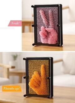 Art 3D Sculpture DIY Needle Carving Mold Desk Toy Decoration Decorative Room Ornaments Home Orange S  12.5*9.5*5.5cm