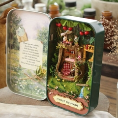 Box Theatre Nostalgic Theme Mini Scene Wooden Miniature Puzzle Toy DIY Doll House Furnitures forest rhapsody One size