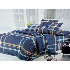 4 Pcs of Flat sheet Set ( (2 Flat sheets +2 Pillow covers) - Multicolor Double size