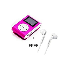 Digital MP3 Player with free earphones PINK AND WHITE