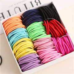 10 pieces Girl ponytail hair accessories thin elastic rubber band children's colorful hair bundle random one size