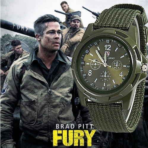 Swiss belt weaving belt military watch, sea, land and air force outdoor sports watch green one size