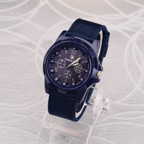 Swiss belt weaving belt military watch, sea, land and air force outdoor sports watch blue one size