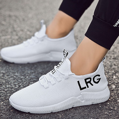 Summer men and women casual shoes tide shoes couple shoes breathable mesh shoes white 39
