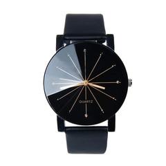 Watch diamond belt quartz watch foreign trade fashion personality men's watch black one size