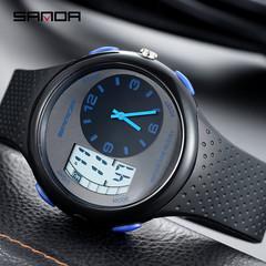 New watch electronic watch men's watch fashion trend waterproof luminous sports men black blue one size