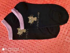 Cute ladies boat socks polyester cotton socks one size random