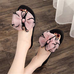 Slippers female 2019 new non-slip soft bottom wear holiday beach sandals and slippers pink 36