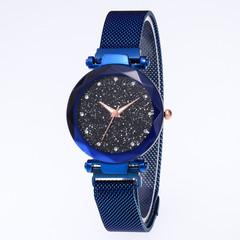 Explosion models hot sale star watch female magnet stone Milan diamond watch blue one size