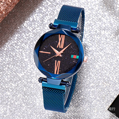 New Star Fashion Quartz Trend Korean Women's Watch Explosion Magnet Table blue one size
