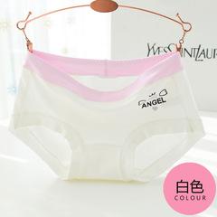 Cotton women's underwear women's new waist briefs breathable women's underwear white one size