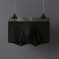2019 explosion models ice silk underwear men's boxer briefs four corner men's underwear black l