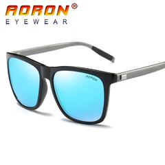 AORON brand logo design men's polarized sunglasses accessories men and women blue one size