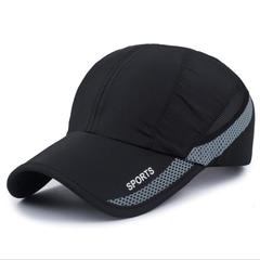 Baseball cap visor hat MaLe sports embroidery hat breathable mesh black one size