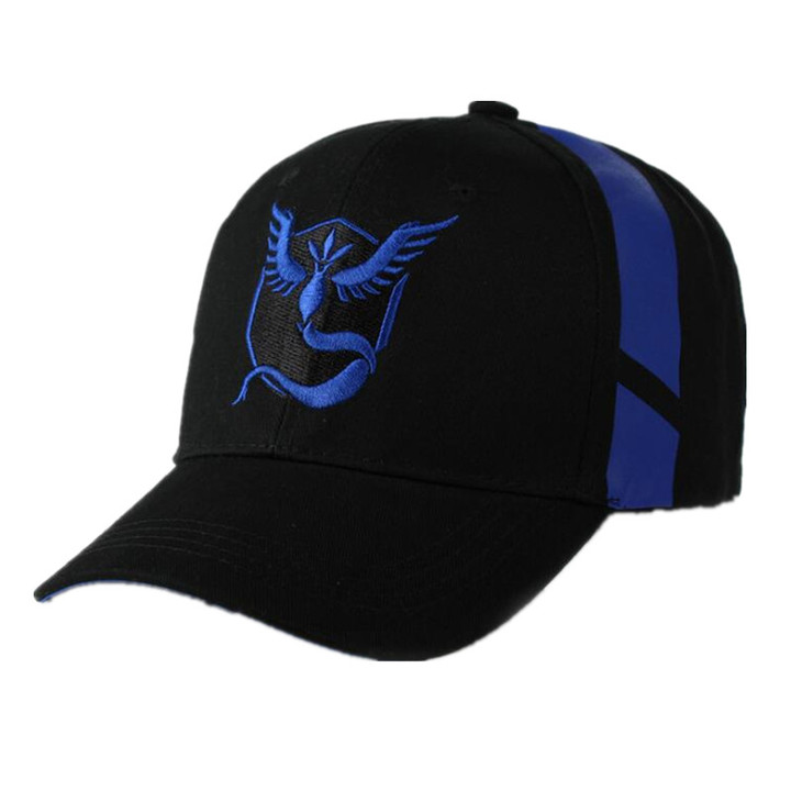 Cosplay Mobile game Pokemon Go Team Valor Team Mystic Team Instinct snapback baseball Cap hat blue one size