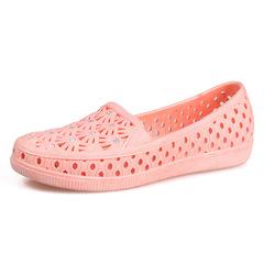 2019 new ladies sandals flat shoes beach peas shoes casual net shoes sandals pink 36