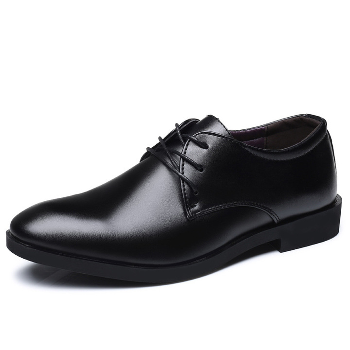 Formal mens business leather shoes black color man's office soft leather shoes new gents dress black 39 leather shoes