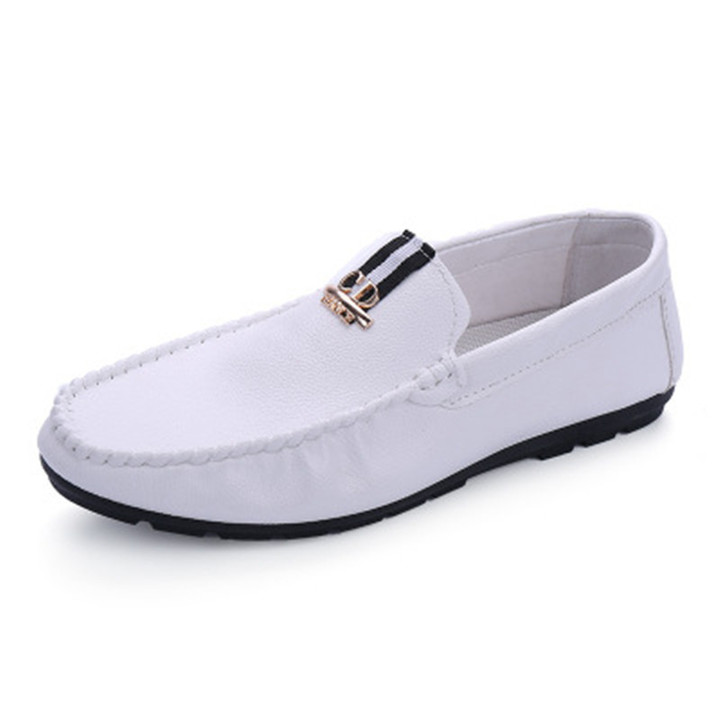 2019 new men's peas shoes waterproof breathable comfortable lightweight men's casual shoes white 39