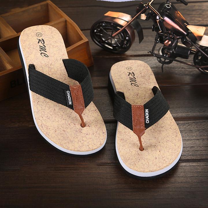 Flip-flops unisex beach large size soft bathroom non-slip flat disposable slippers adult flip-flops black 40