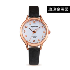 Cross-border explosion fashion watch female luminous female watch ladies quartz watch black one size
