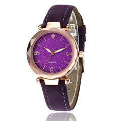 Women's Watch Fashion Watch Lady Clock Quartz Crystal Watch Fine Watch purple one size