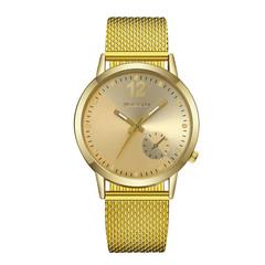 Top brand luxury watch ladies quartz watch luxury simple mirror watch golden one size