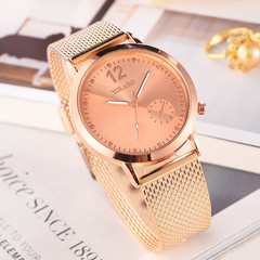 Top brand luxury watch ladies quartz watch luxury simple mirror watch rose gold one size