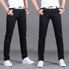 2019 men's casual trousers Korean Slim men's waist casual pants men's pants black 28