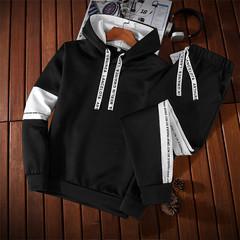 Men jacket Zipper Hoodies Sweatshirts Bodybulding pants Jogger Fitness Pencil Pantsm Sporting Suits black m