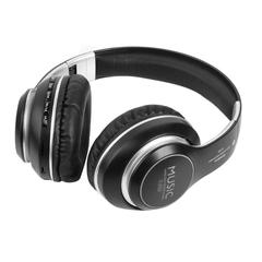 Wireless Bluetooth Headset Handsfree Headset Music Headset Support PC Card Mobile SD Card black