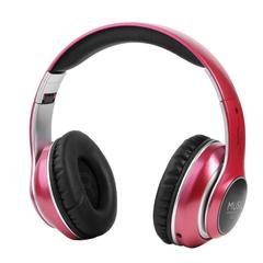 Wireless Bluetooth Headset Handsfree Headset Music Headset Support PC Card Mobile SD Card red