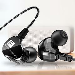 Headphones waterproof 3.5 mm wired bass stereo headphones sweat-proof headphones black