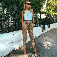 Trousers 2019 casual nine pants ladies pants high quality pants boutique pants khaki s