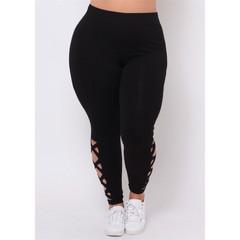 Fine beauty pants solid color pants ladies pants large size pants high quality women's trousers black l