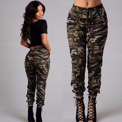 2019 New Stylish Women Camouflage Pants Camo Cargo Joggers Military Army Harem Trousers green s
