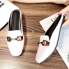 Women's soft and comfortable flat shoes ladies Roman shoes ladies high quality handmade shoes white 35