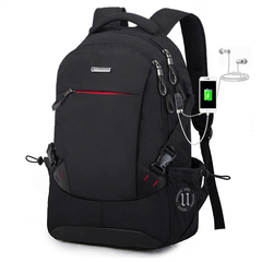 Backpack Men's College Backpack Men's Large Capacity Business Travel Bag Computer Bag black one size