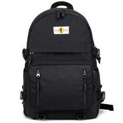 USB charging ladies backpack ladies waterproof nylon laptop backpack female travel rucksack black one size
