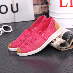 2019 flat shoes ladies comfortable casual flat shoes outdoor breathable women's shoes red 35
