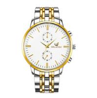 Men's Watch New ORLANDO Fashion Quartz Watch Men's Silver Plated Stainless Steel Watch white one size 1