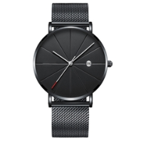 Men's Watch New ORLANDO Fashion Quartz Watch Men's Silver Plated Stainless Steel Watch white one size 2