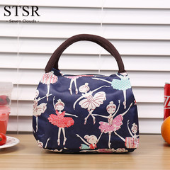 STSR Portable Lunch Bag Cartoon Pattern Canvas Lunch Box Lady Handbag Multicolor Available Wholesale 1 210mm*150mm*170mm