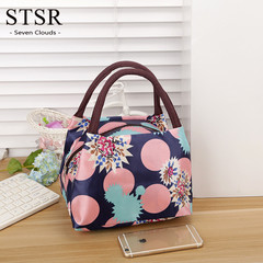 STSR Portable Lunch Bag Cartoon Pattern Canvas Lunch Box Lady Handbag Multicolor Available Wholesale 3 210mm*150mm*170mm